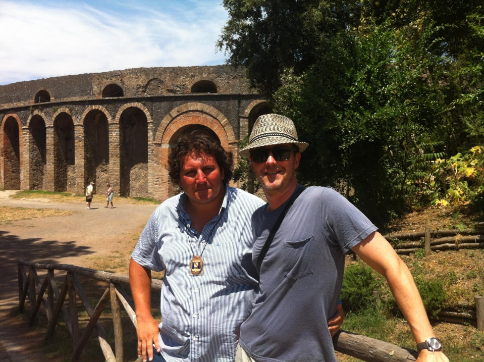 A splendid day with Edward Norton at Pompeii