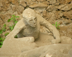 a victim of the eruption that buried Pompeii