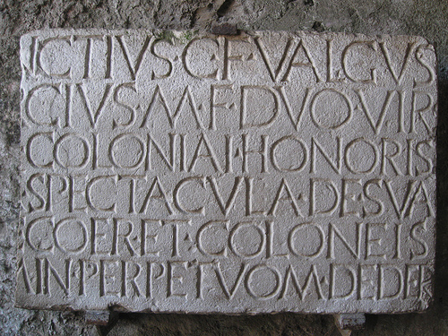 Amphitheater inscription