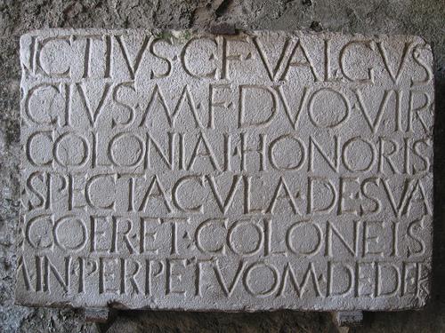 Amphitheater inscription