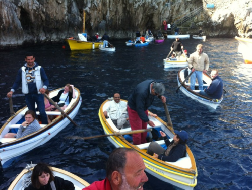 Tourist at the blue Grotto