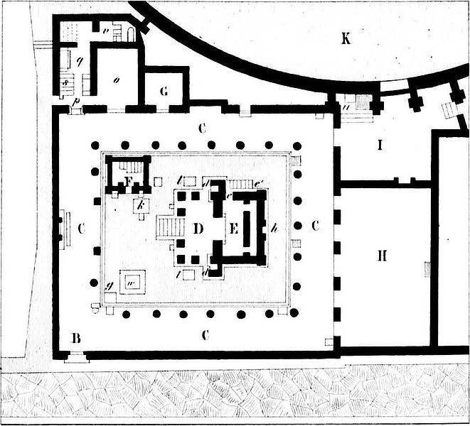 The Temple os Isis drawing