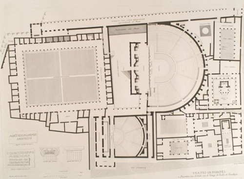 theater map Pompeii