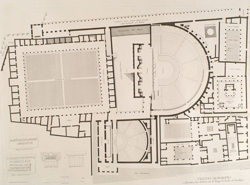theater map Pompeii