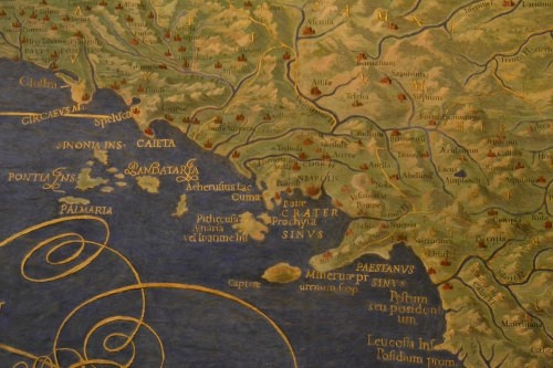 Pompeii in the Gallery of the maps of the Vatican Museums