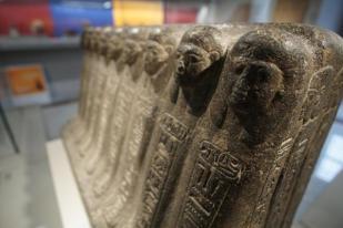 """La mostra """"Egitto a Pompei"""" nelle sale del Museo Archeologico Nazionale di Napoli, 7 Ottobre 2016. ANSA/CESARE ABBATE"""